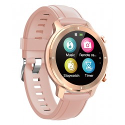 "HIFUTURE smartwatch HiWAVE, 1.3"", IP68, heart rate monitor, ροζ χρυσό"