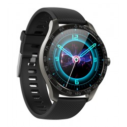 "HIFUTURE Smartwatch SAVVY KW35, 1.3"", IP68, heart rate monitor, μαύρο"